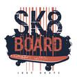 skateboard 010 vector image vector image