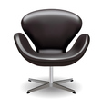 swan chair vector image