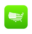 usa map icon digital green vector image