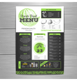 Vintage chalk drawing vegetarian food menu design vector image vector image