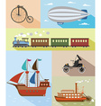 vintage means of transportation vector image vector image