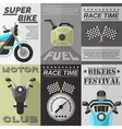 Vintage Rider Poster Set vector image