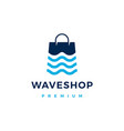 wave river shop store logo icon vector image vector image