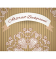 Wedding invitation Lace background with a place vector image