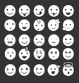White Emoticon vector image vector image