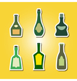 set of color icons with bottles vector image