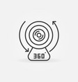 360-degree camera device linear concept vector image vector image