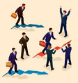 3d flat isometric people vector image vector image
