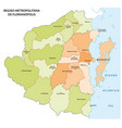 administrative map florianopolis brazil vector image vector image