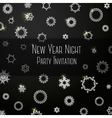 Black classic colored invitation on New Year Party vector image vector image
