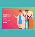 business presentation giving a speech concept vector image