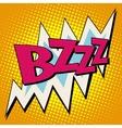 bzzz voltage electricity energy comic bubble retro vector image