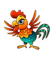cartoon chicken isolated vector image vector image