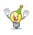 clown light bulb character cartoon vector image vector image