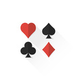color playing cards suits collection icon vector image vector image