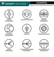 concept line icons set 01 engineering vector image vector image
