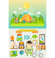 Concept of travelling vector image vector image