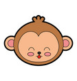 cute monkey face cartoon vector image vector image