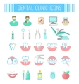 Dental clinic services flat icons on white vector image vector image