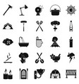 dry icons set simple style vector image vector image