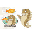 fish and chips mascot design vector image vector image