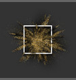 golden glitter explosion on grey vector image vector image