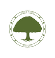 green tree stamp vector image