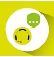headphones bubble speech service vector image vector image