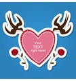 Heart frame with swallows vector image vector image