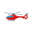 helicopter air transportation logo vector image vector image
