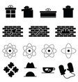 icon set in variouses poses in black color vector image vector image