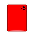 isolated red card icon vector image