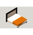 Isometric home furniture - bed Interior element vector image vector image
