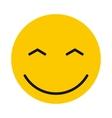 Joyful smiley icon flat style vector image vector image