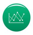 line diagram icon green vector image