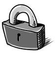 Lock cartoon sketch vector image vector image