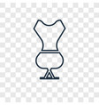mannequin concept linear icon isolated on vector image