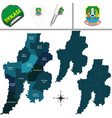map of bekasi indonesia vector image vector image