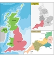 Map of England vector image