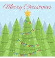 Merry Christmas Christmas card Daytime Christmas vector image