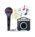 microphone with amplifier speaker music vector image vector image