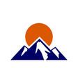 mountain abstract logo icon vector image vector image