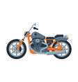 orange motorcycle motor vehicle transport side vector image vector image