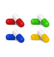 realistic medical pill set isolated on vector image