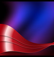 red and blue wavy design eps vector image vector image