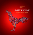 rooster symbol of 2017 on the Chinese ca vector image vector image
