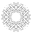 Round decorative geometric pattern vector image