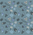seamless pattern with cute small beetles and vector image vector image