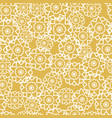 seamless pattern with retro flowers yellow vector image vector image
