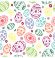 seamless simple pattern with ornamental egg vector image